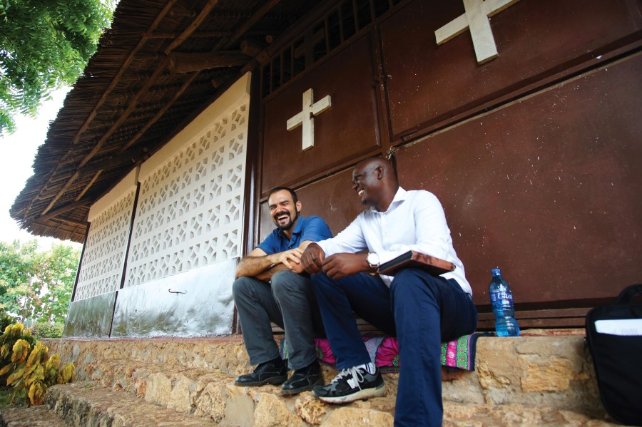Pastor Christopher and DJ Morrison at Mbezi Chapel