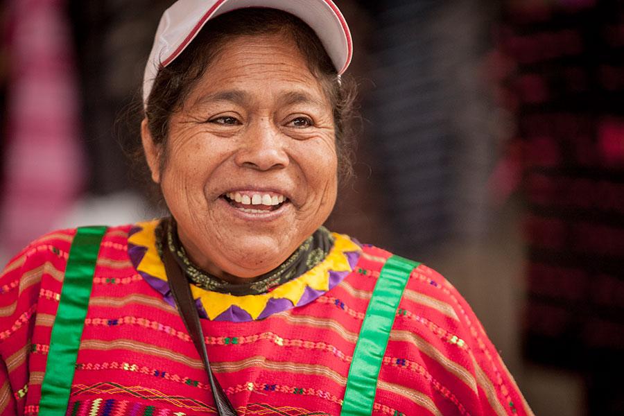 Triqui woman smiles