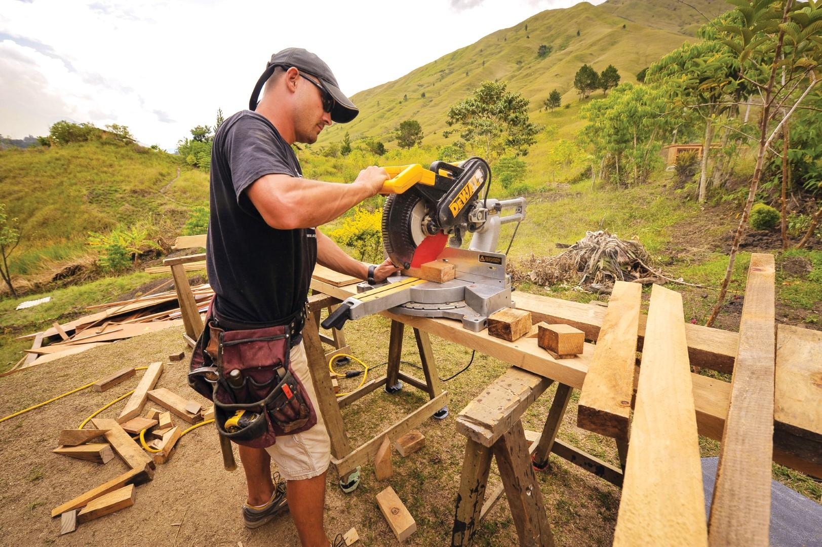 Serving as a carpenter