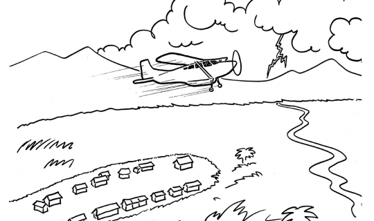 God at the Controls Illustrations/Coloring Pages