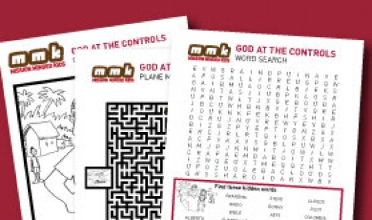 God at the Controls Activity Pages